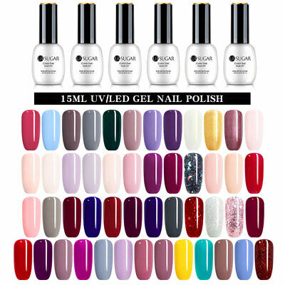 15ML UR SUGAR Soak Off UV Gel Pure Tips Nail Gel Polish 85 Colours Design Tips