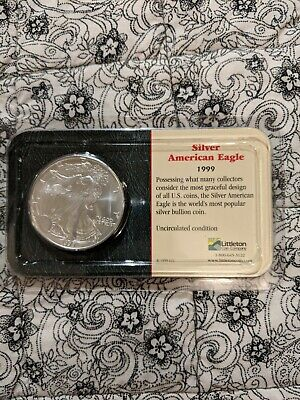 1999 Uncirculated American Silver Eagle US Mint Issue 1oz Pure Silver Sealed