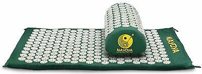 Nayoya Back and Neck Pain Relief - Acupressure Mat Pillow Set Relieves Stress