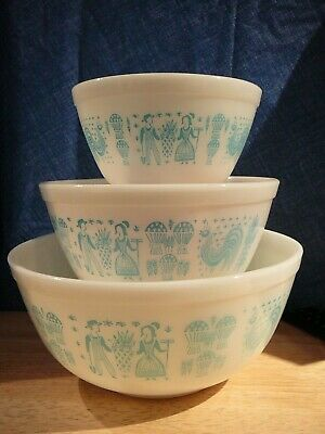 Pyrex Amish Butterprint Bowls 401 402 403 lot 8