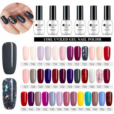 15ML UR SUGAR Solid UV Gel Color Smalto per unghie Soak-off Manicures 85 Colours