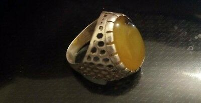 Rare Ancient Antique Ring Silver 925 Stunning Artifact Rare Type with Stone