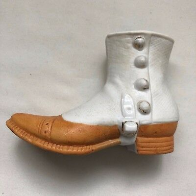 Royal Bayreuth Man's Spat Shoe with applied Buttons and Protruding Strap