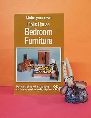 A Calder: Make Your Own Doll's House Bedroom Furniture/crafts/woodwork/1970s