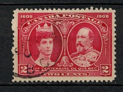 Canada #98 Used VF 2c 1908 King Edward VII and Queen Alexandra Quebec Issue