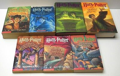 Harry Potter HC PB 1st Edition Books COMPLETE SET 1-7 JK Rowling VG Cond. FAST