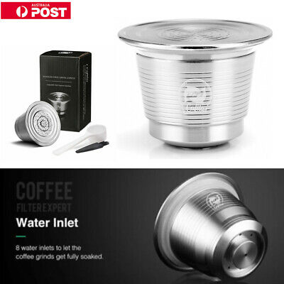 Pro Stainless Steel Refillable Reusable Coffee Capsule Pod Nespresso Machines AU