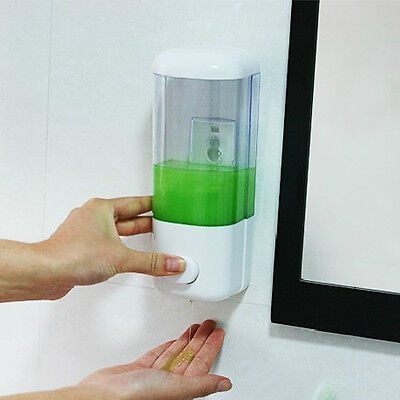 Liquid Soap Dispenser Wall Mounted Bathroom Hand Sanitizer Shower Gel Shampoo RS