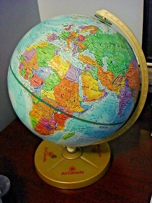 "Vintage Replogle World Nations Series 12"" Globe By LeRoy Tolman Air Canada Base"