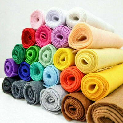 Soft Felt Fabric 1.4mm Thick Non Woven Craft Material Assorted Color By the Yard