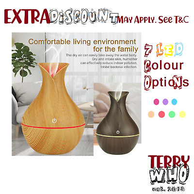 Air Aroma Diffuser LED Essential Oil Ultrasonic Humidifier Purifier Aromatherapy