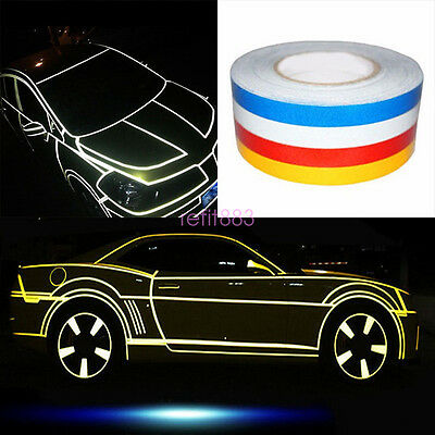 Cars Trucks Safety reflective Tape Roll Stripe Self-Adhesive Yellow 1CM X 45M
