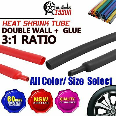 Heat Shrink Tube Tubing Wire Cable Sleeving Insulation Dual Wall Adhesive 2.2M
