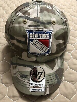 on sale ae63d cb105 New York Rangers  47 Brand Womens Camo Hat Adjustable Nwt Sequin
