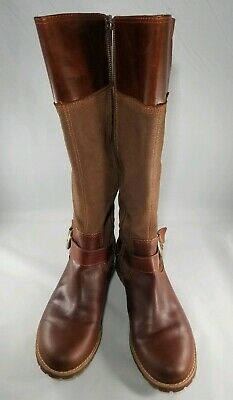 1febc064ac0 Timberland Bethel 26639 Brown Leather Suede Knee-High Tall Zip Boots  Women s 11