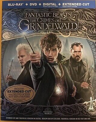 Fantastic Beasts: The Crimes of Grindelwald (Blu-ray+DVD, 2019) w/ slipcover
