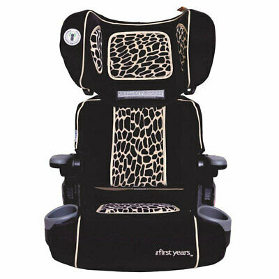 First Years Racing Foldable Booster Car Seat/4yr+ Toddler Children Kids Giraffe