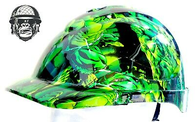 Custom Hydrographic Wide Brim Safety Hard Hats HULK CAP STYLE