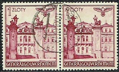 Germany General Government 1940 Building Used Pair. As Is See Scan
