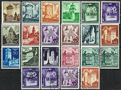 Germany General Government 1940 Famous Castles Mlh & Used & Extra As Is See Scan