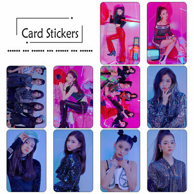 10pcs Kpop ITZY IT'z Different HD Photocard Card Stickers Lia Ryujin Chaeryeong