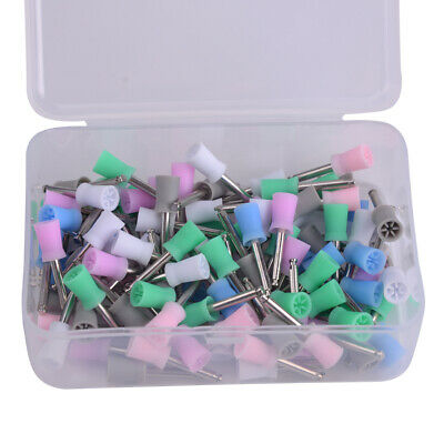 100x Disposable Dental Latch Polishing Polisher Prophy Cup Fit For Contra Angle