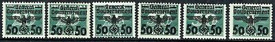 Germany General Government 1940.polish Post Dues & Extra.mlh As Is See Scan
