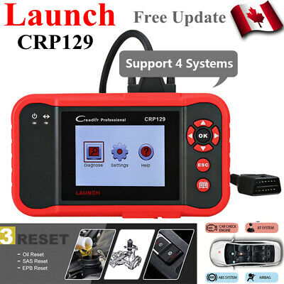 Launch OBD2 Code Reader X431 CRP129 Diagnostic Scanner Tool EPB Oil SAS ABS SRS