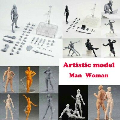 Drawing Figures for Artists Action Figure Model Human Mannequin Man Woman w/Kit