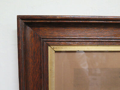 83x63 cm FRAME FOR PAINTINGS ANTIQUE WITH PRINT SIGNED AXEL HOLM DENMARK R97
