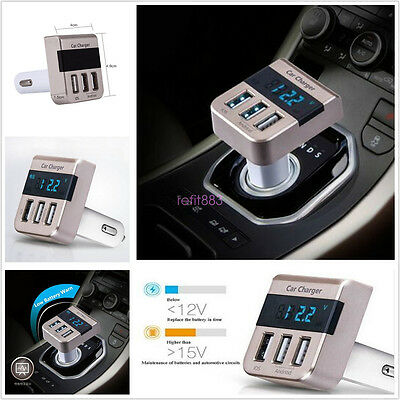 Universal Car 3 Ports USB Cigarette Lighter Quick Charger For All Phones 5V 3.1A