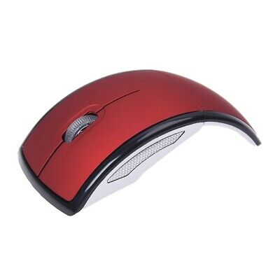 1200 dpi Wireless Mouse Gaming Mouse LED Foldable 3 button 2,4GHZ Red + Bla F9V8