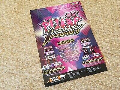 b6bcc9d092a7 PUMP IT UP INFINITY - Video Game Flyer - MINT Collectible Andamiro PIU NEW