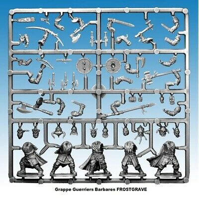 FROSTGRAVE Grappe Guerriers Barbares Figurines 28mm plastique