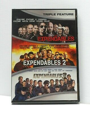 THE EXPENDABLES TRILOGY 1 2 3 DVD NEW SEALED FAST FREE SHIPPING Stallone