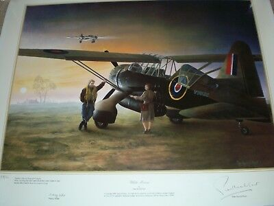 Aviation Print Signed by Nancy Wake & Artist.Authentic as new & very rare !