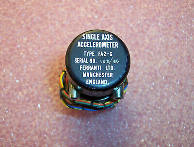 Qty (1) Fa2-6 Ferranti Single Axis Accelerometer Nos