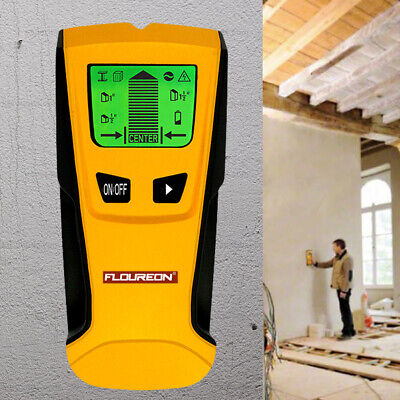 FLOUREON 3 in 1 Wall Mounted LCD Stud Center Finder Metal AC Live Wire Detector
