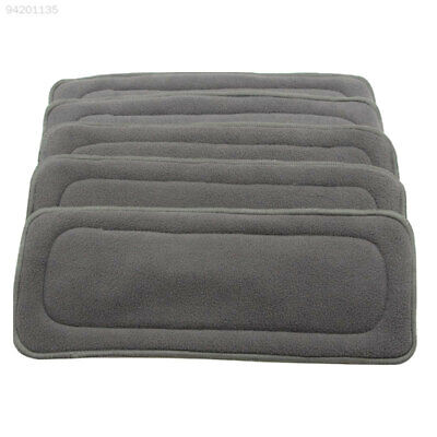 1A8B 1PC 4 Layers Reusable Baby 70% Bamboo Charcoal Cotton Liners For Cloth