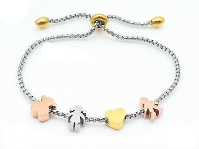 New High Quality Titanium Steel Love Heart Children Bear Bracelet