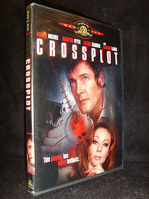 Crossplot (DVD, 2005) Mint Disc!•USA Region 1•Out-of-Print!•Roger Moore