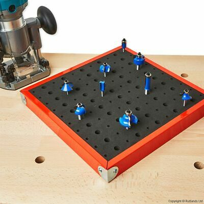 "Router Bit Tray for 1/4"" and 1/2"" Bits - 110 Hole"