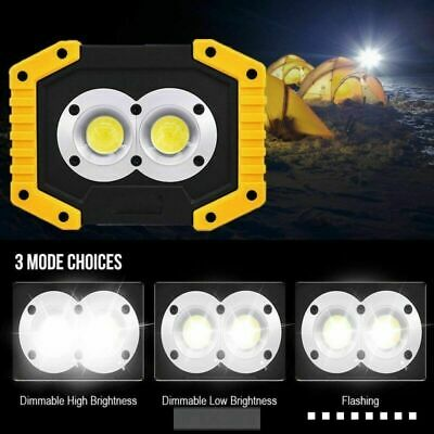 Waterproof COB LED Light Garden Car Fishing Work Night Rechargeable Lamp 20W LOT