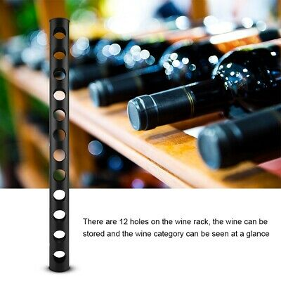 Stainless Steel Wine Rack Wine Wall Mounted Holder 12 Bottles Kitchen Bar