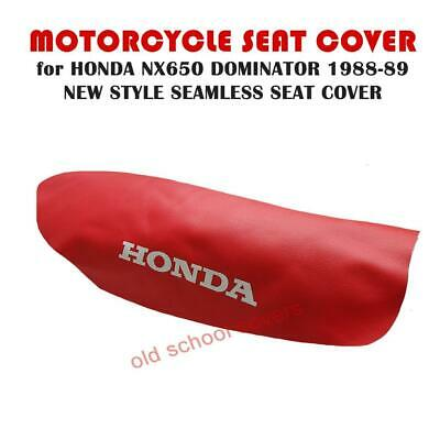 HONDA NX650 NX 650 DOMINATOR 1988-1989 RED SEAMLESS SEAT COVER with LOGOS