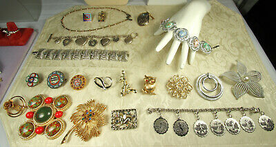 Sterling/Costume Jewelry LOT 90pc BEAU CORO GIVENCHY SPADE JOHNSON COVENTRY JLO
