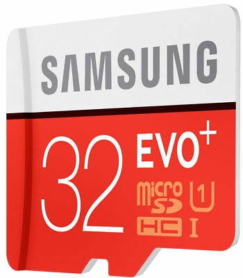 Samsung 32GB Micro SD Card Evo+ Class 10 Memory Card With Free Adapter UK FR