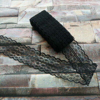 Pretty 10 Yards Black 40mm embroidery lace ribbon lace Bilateral DIY accessories