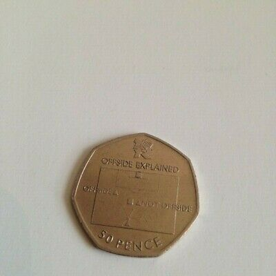 Circulated 2011 Olympic 50P Coin Football In Capsule
