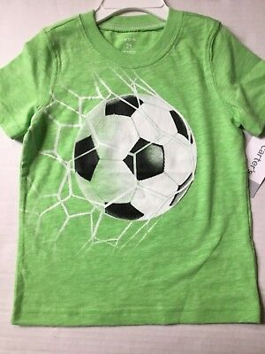New Carter's Boys Top T-Shirt 2T  SOCCER Ball Graphic Tee $14.00   #88/3